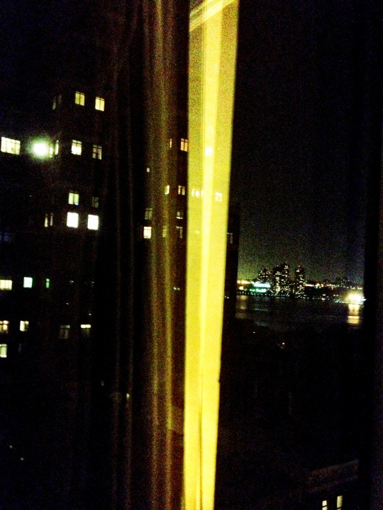 Room with a view: Hudson river by night