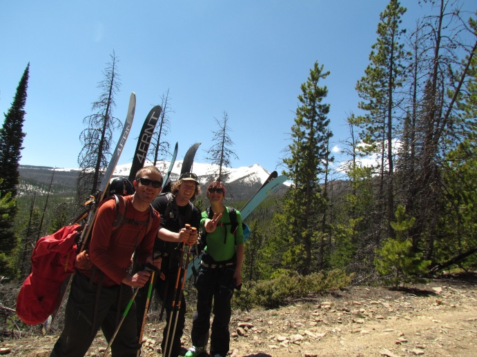 Even happier bunch. Our run is visible in the background, miles and miles away. Photo: Matt Enlow.