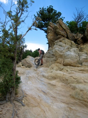 Tricky climb, fun ride down, Dakota Ridge
