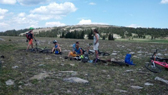 At the foot of Medicine Bow Pea. Photo: Jenn Hessk