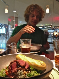 Last steak and beer at DIA, probably the best airport food in the world