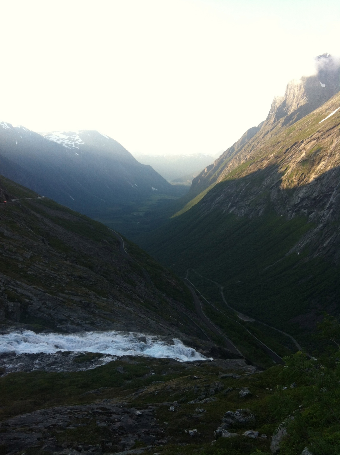 Magnificient view from the top of Trollstigen