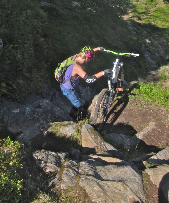 Carrying bikes, down hill. Its just, wrong.