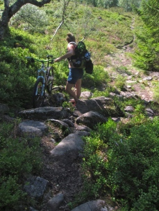 The trail from the Säter