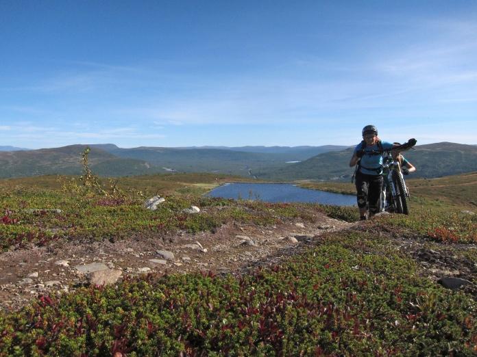 Kristin heading up Laxfjället