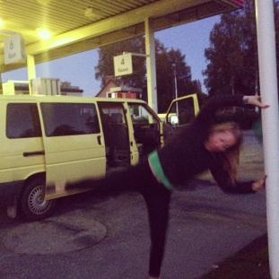 Some kind of pole dance