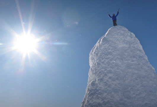 Aron on the top of the world