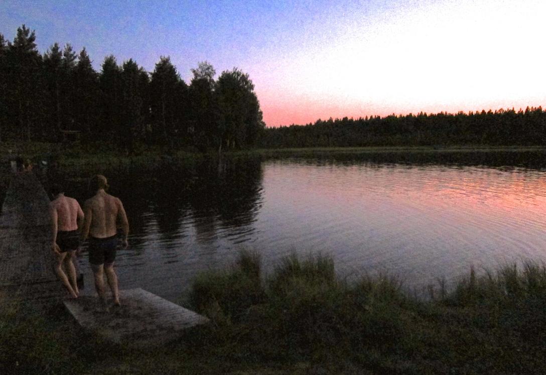 Midnight dip