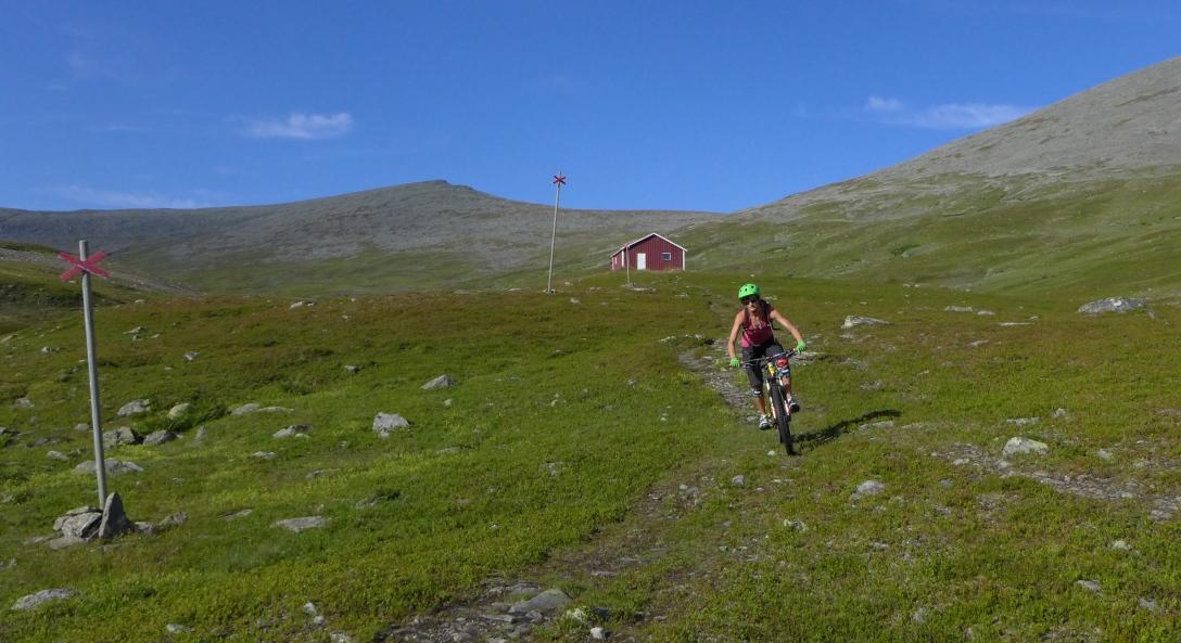 Heading back the right way from Klöverstugan