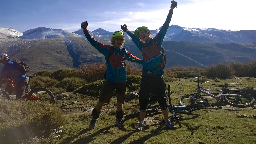 One happy hobit and one happy hen in Sierra Nevada.