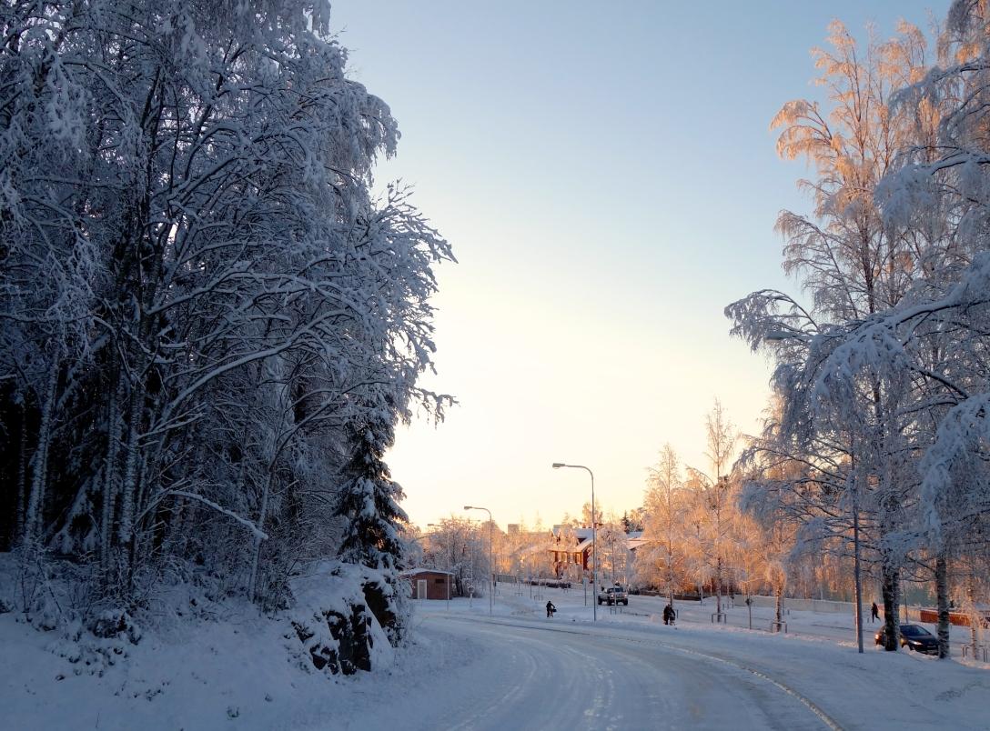 December sun over Umeå