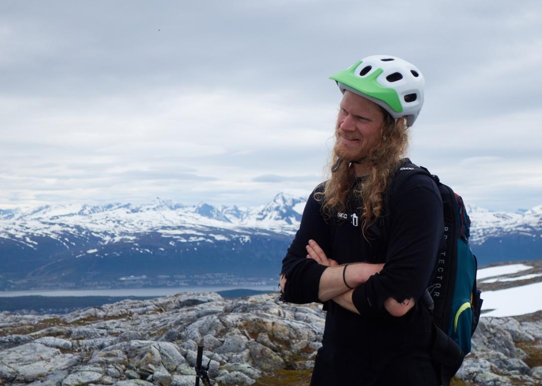 Gustav on the top of Stortuva.