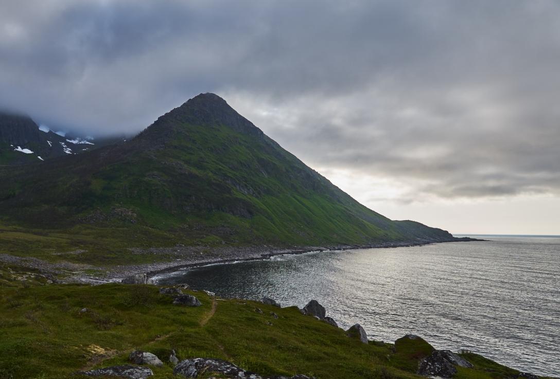 Dark clouds over Mefjordvær.