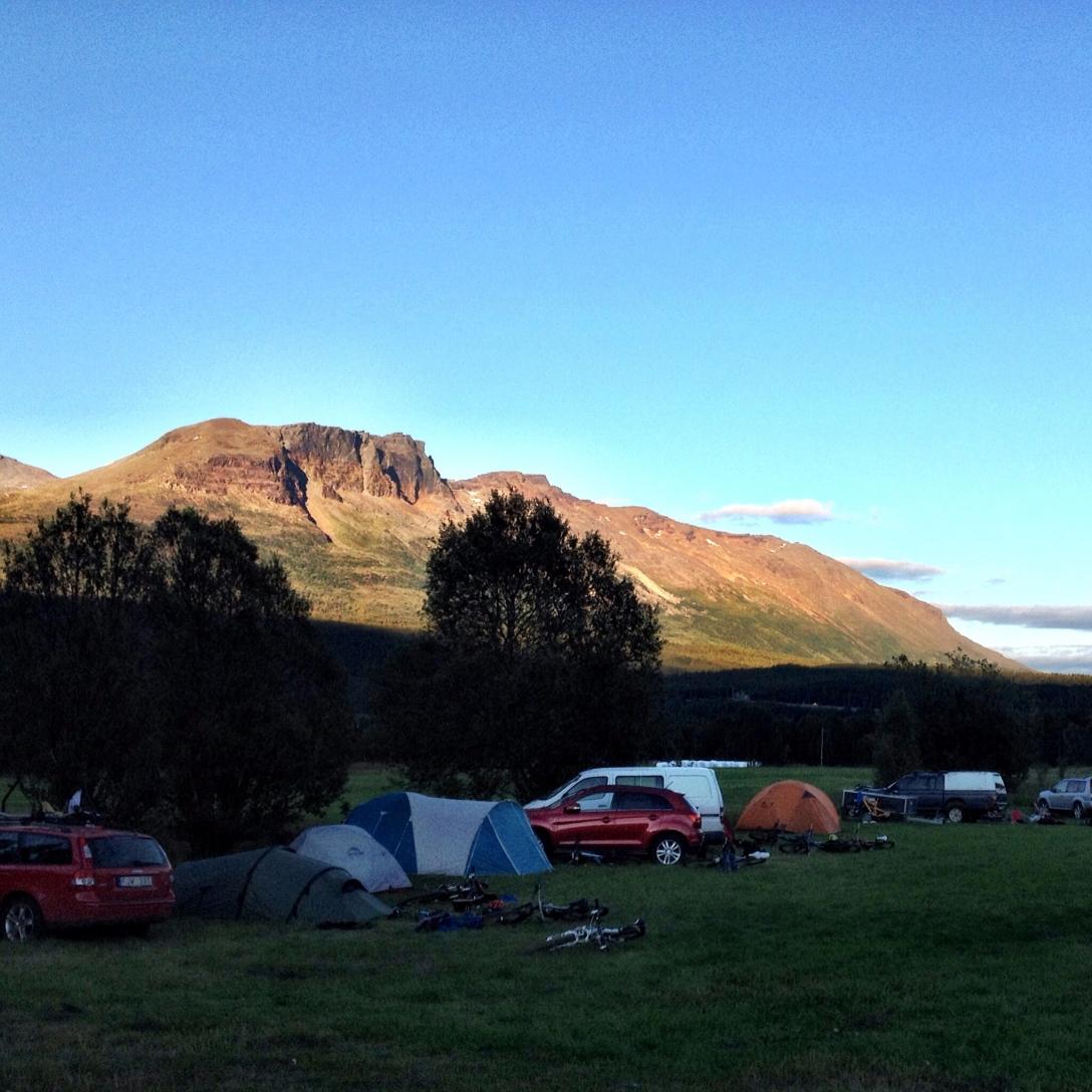 Skibotn Stifestival camping spot.
