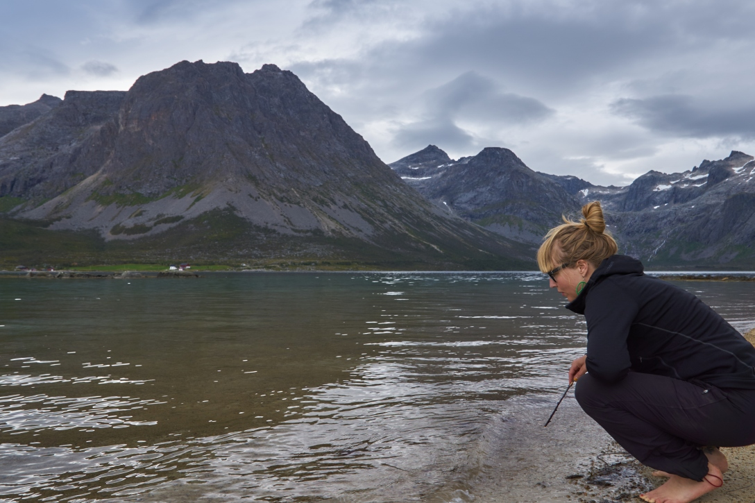 Maria ready to poke in Grøtfjord.