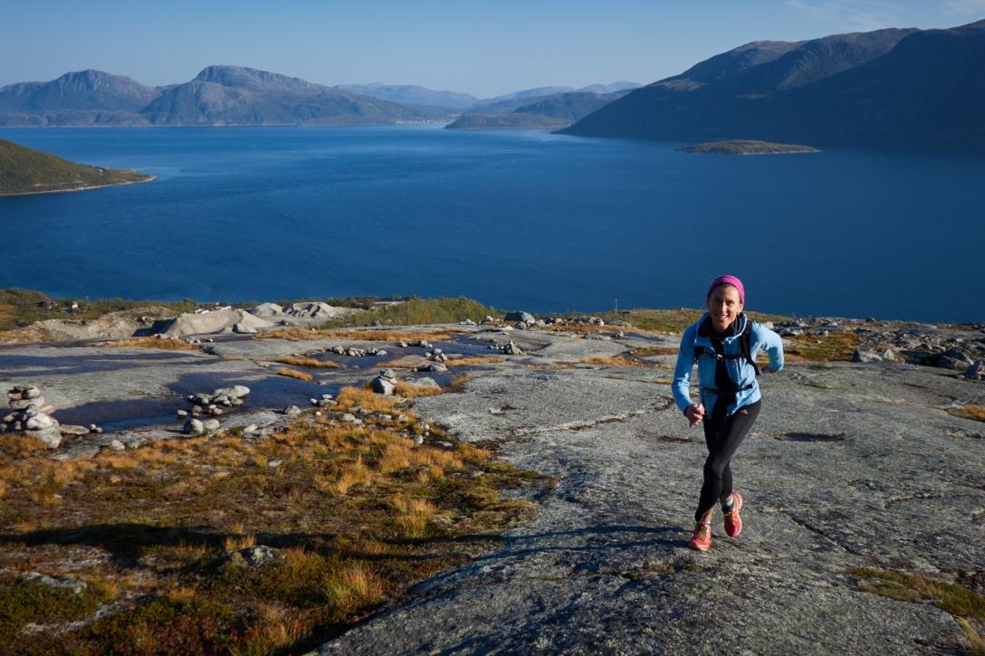 Lina in sunny Troms.