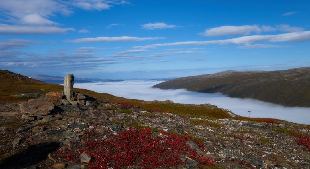 Fog over Tromsø.