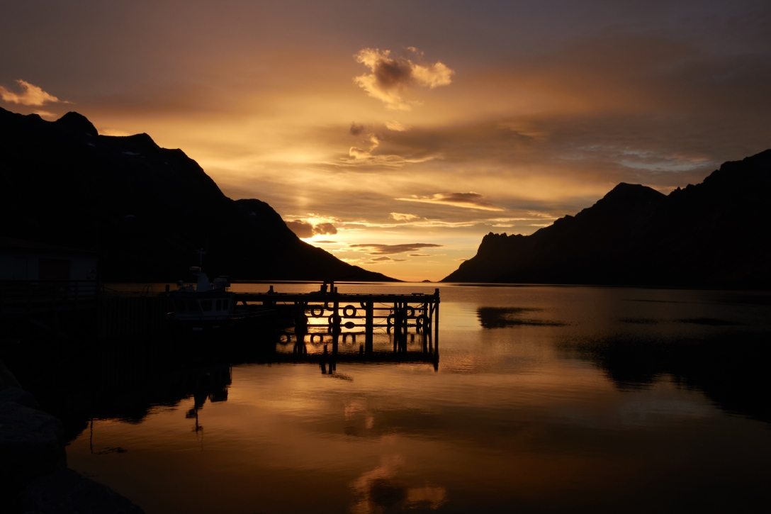 Sunset over Ersfjorden.
