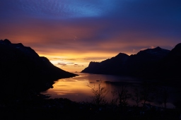 Last sunset in Ersfjord