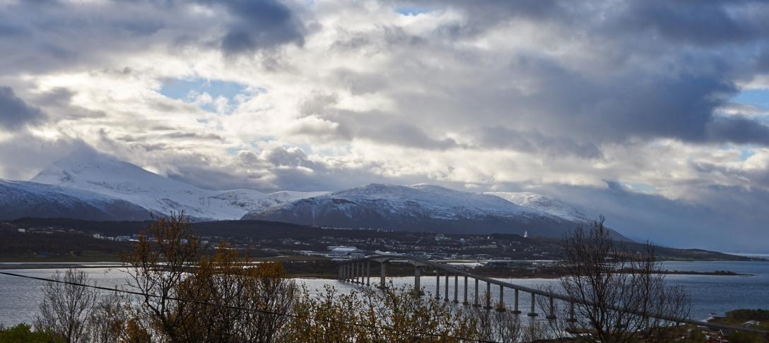 Morning view over Tromsø