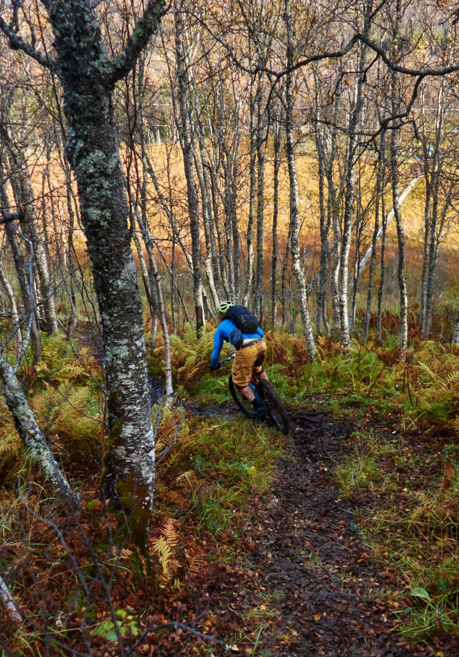 Martin showing some T&A on the lower part of Rundfjellet