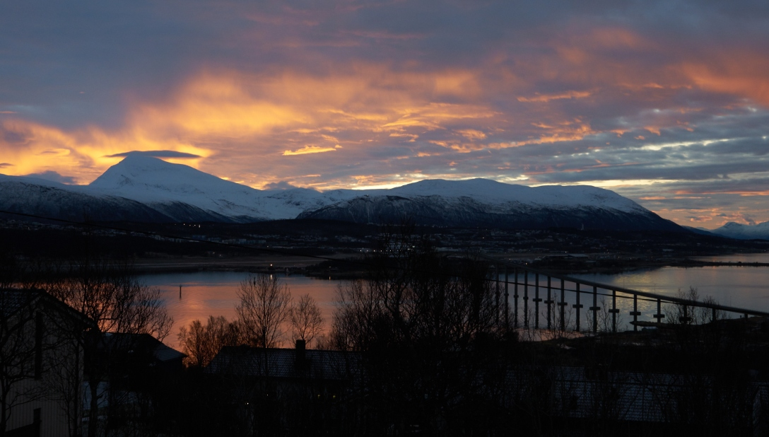 Sunrise over Tromsdalstind.