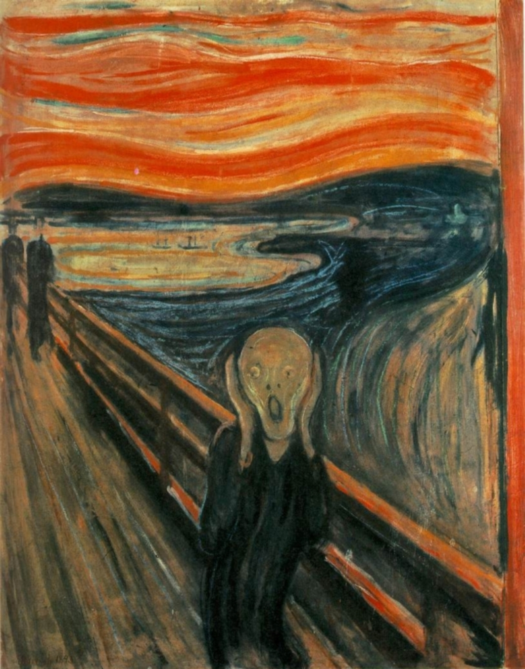 """The Scream"" by Edvard Munch - WebMuseum at ibiblioPage: http://www.ibiblio.org/wm/paint/auth/munch/Image URL: http://www.ibiblio.org/wm/paint/auth/munch/munch.scream.jpg. Licensed under Public Domain via Commons - https://commons.wikimedia.org/wiki/File:The_Scream.jpg#/media/File:The_Scream.jpg"