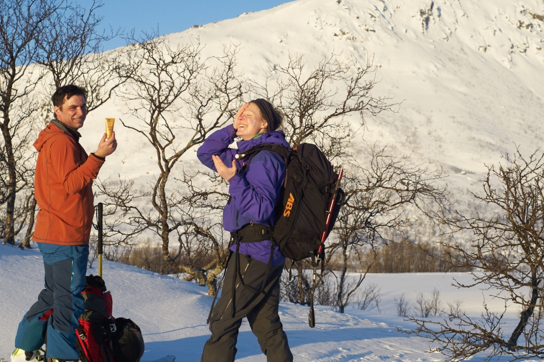 First day of sunscreen in Troms.