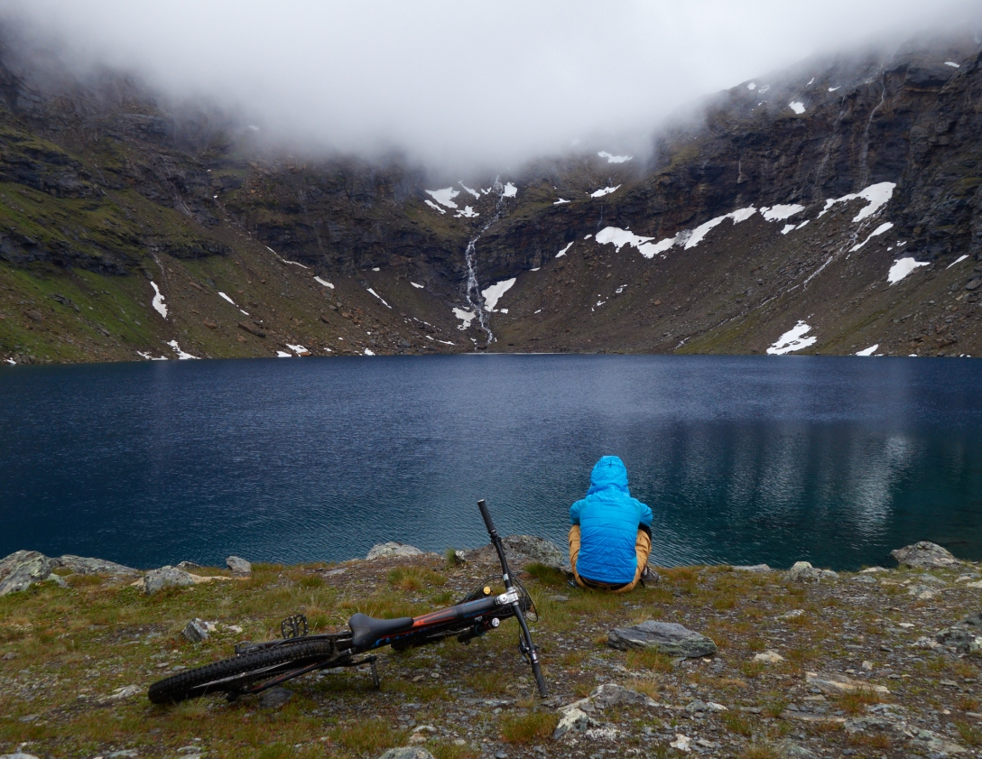 Martin contemplating the wonders of nature and Norwegian import laws at Trollsjön, Kärkevagge, Abisko.