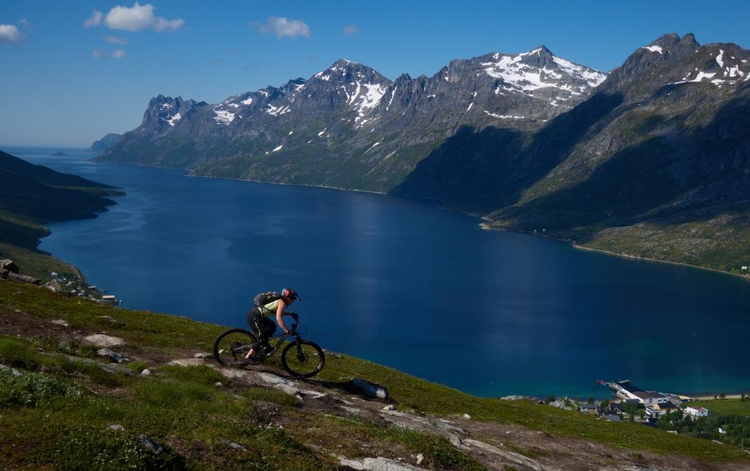 Kjersti on a completely misery free day in Ersfjord.
