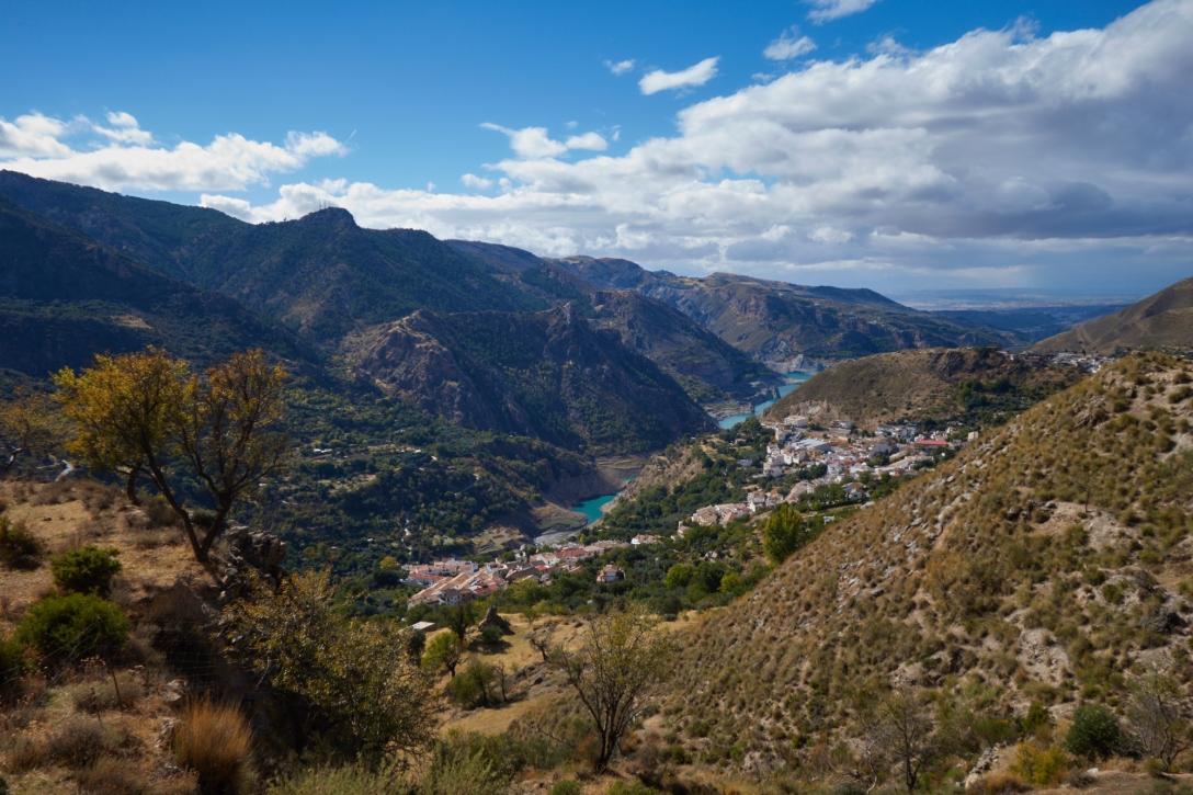 Guejar Sierra as seen from the Moondraker trail.