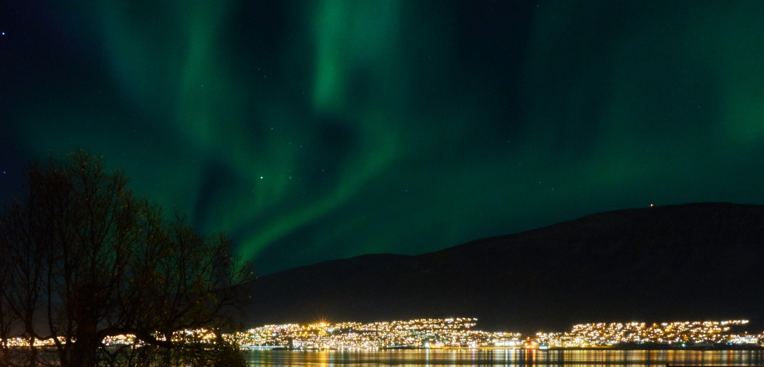 Northern lights over Tromsø. October 10, 8.54 pm.