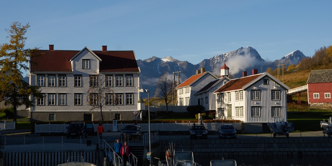 The picturesque harbor of Hamnes, Ulløya.